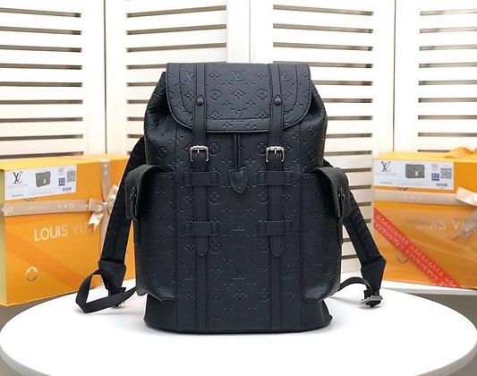 Leather Classic Printed Backpack