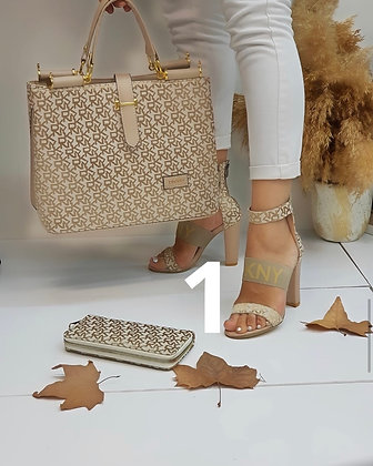 Fashion Sandal Bag wallet Combo