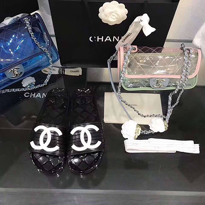 CHANEL GEL SLIDES