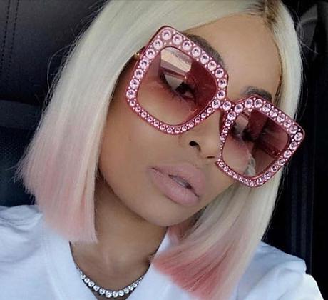 Mizz Italy Designer Square Diamond Sunglasses
