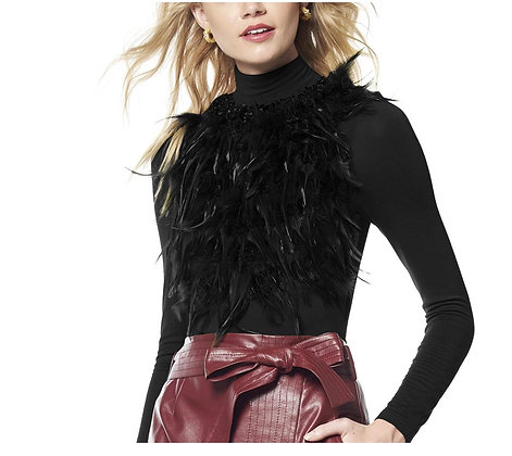Front Fur Attached Jersey Top