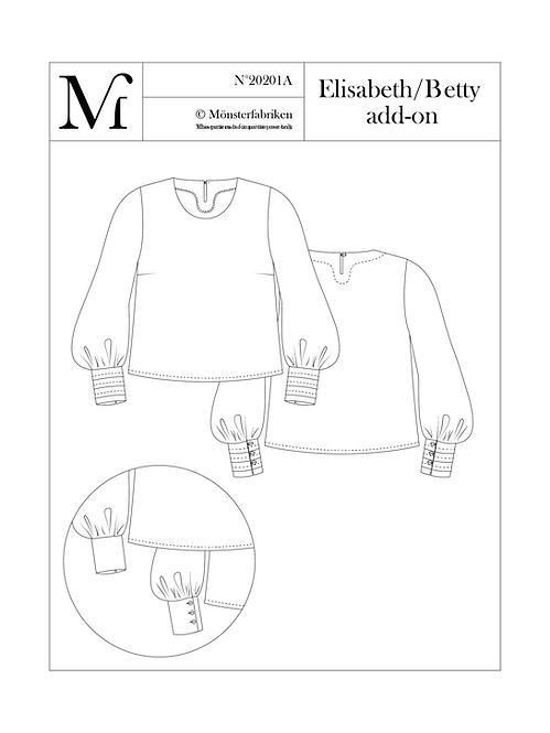 Elisabeth/Betty - Sleeve add-on - PDF pattern