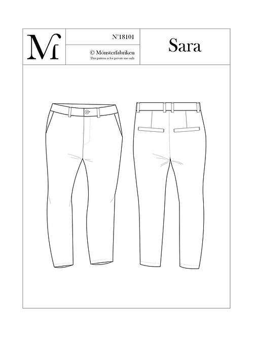 Sara 104-124 PDF Pattern