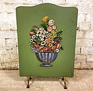 1940's English barbola fire screen