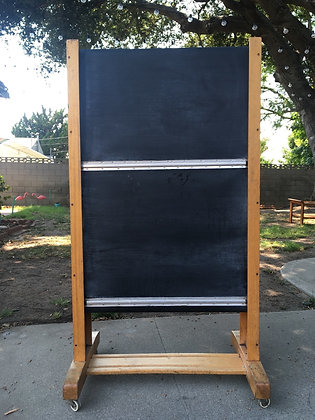Rare 1950's small Scottish chalkboard
