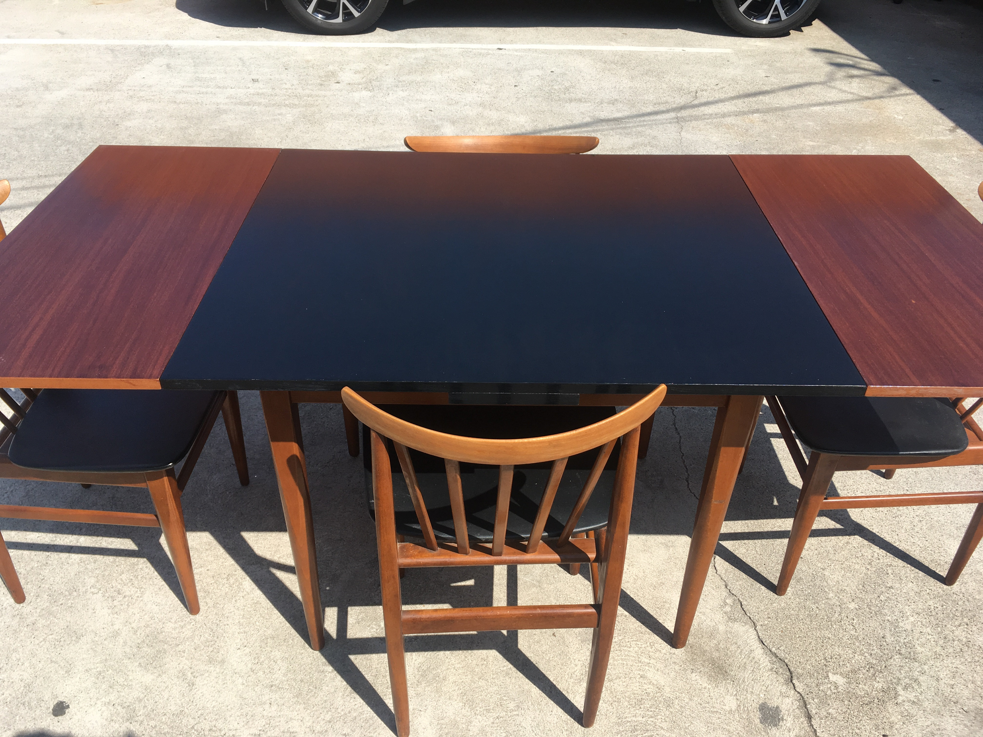 Danish Mid Century Dining Table And 4 Chairs