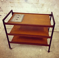 Mid Century Teak tea trolley