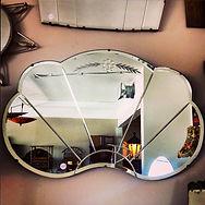 Rare Art Deco bevelled mirror