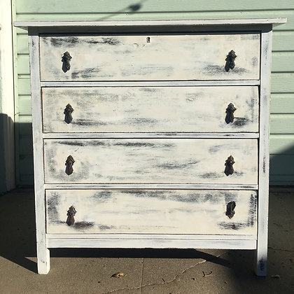 Antique Painted Pine Dresser