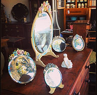 Various antique Barbola mirrors