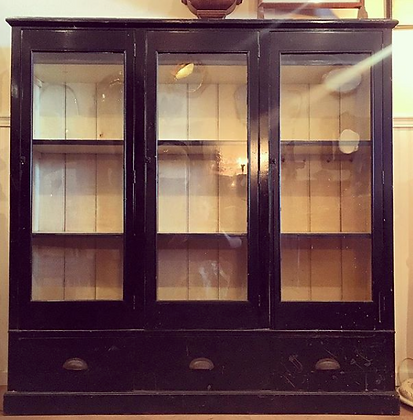 Rare English Antique General Store Display Cabinet