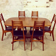 Danish stamped Mid Century dining set