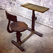 1890's iron school desk