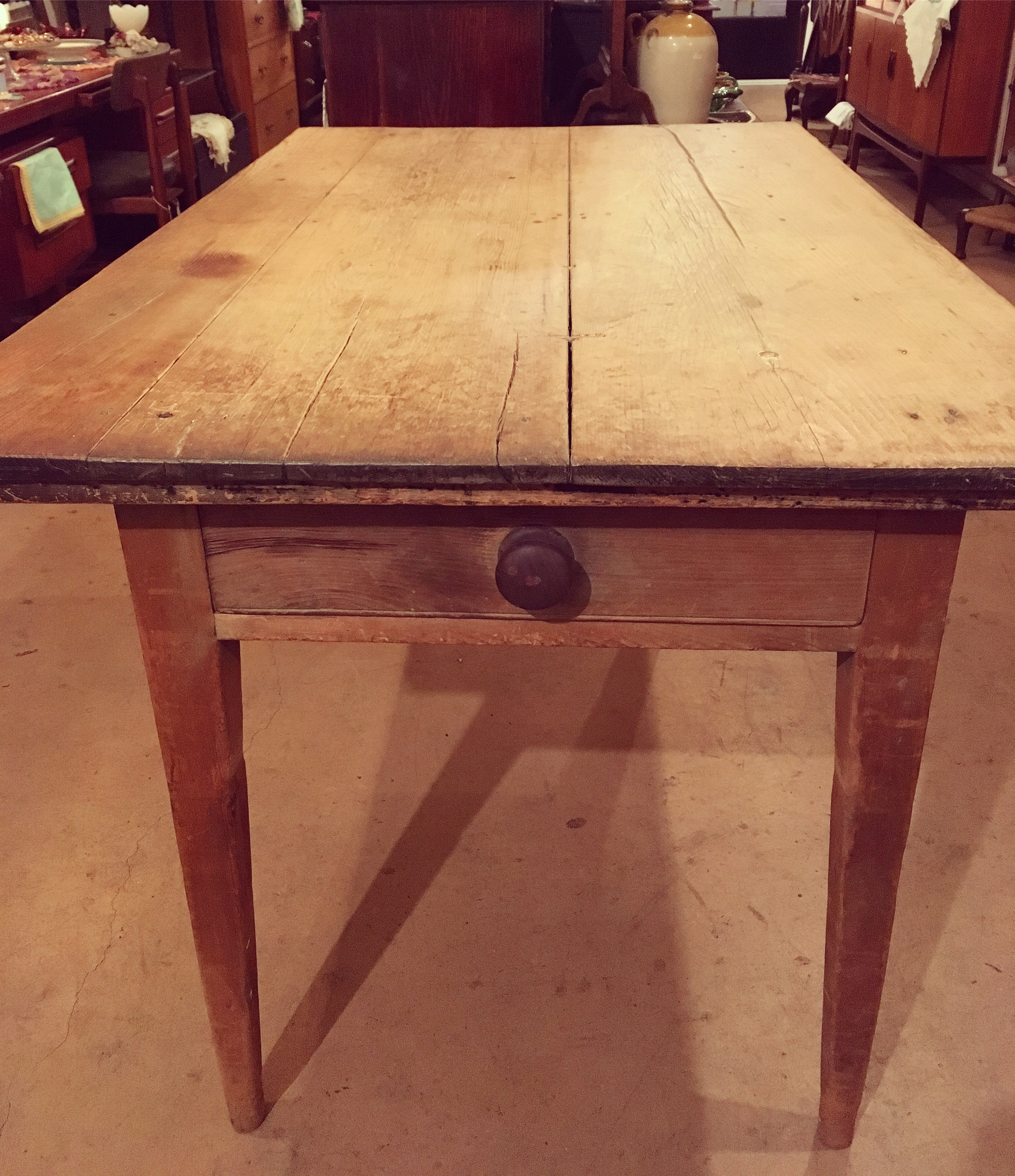Large Scottish pine kitchen table