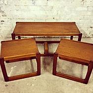 Scottish Mcintosh & Co Mid Century teak nest of tables