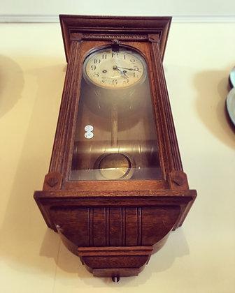 Antique oak wall clock