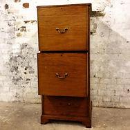 mahogany 3 drawer file cabinet