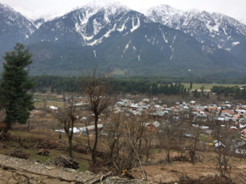 Pahalgam valley as seen from the top