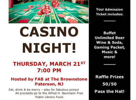 FAB Hosts Casino Night on March 21st