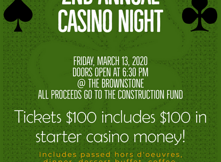 Library's Casino Night to Raise Funds for Construction Project