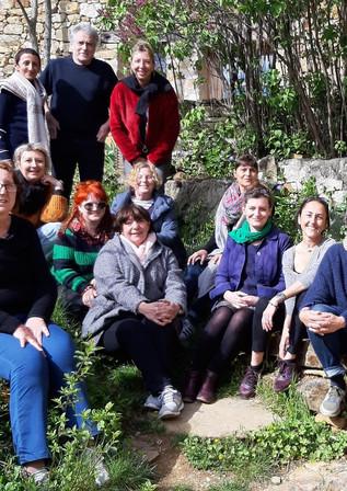 Les participants du séjour avec Laurine Roux , Heureux !