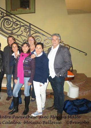 Les participants avec Marcus MALTE