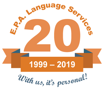20th anniversary of E.P.A. Language Services