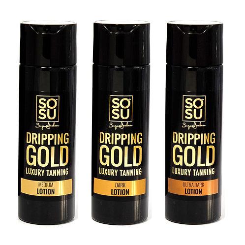 SOSU DRIPPING GOLD LUXURY TANNING LOTION