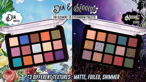 JCat Dia & Noche Tri-Element 15 Pigment Palette