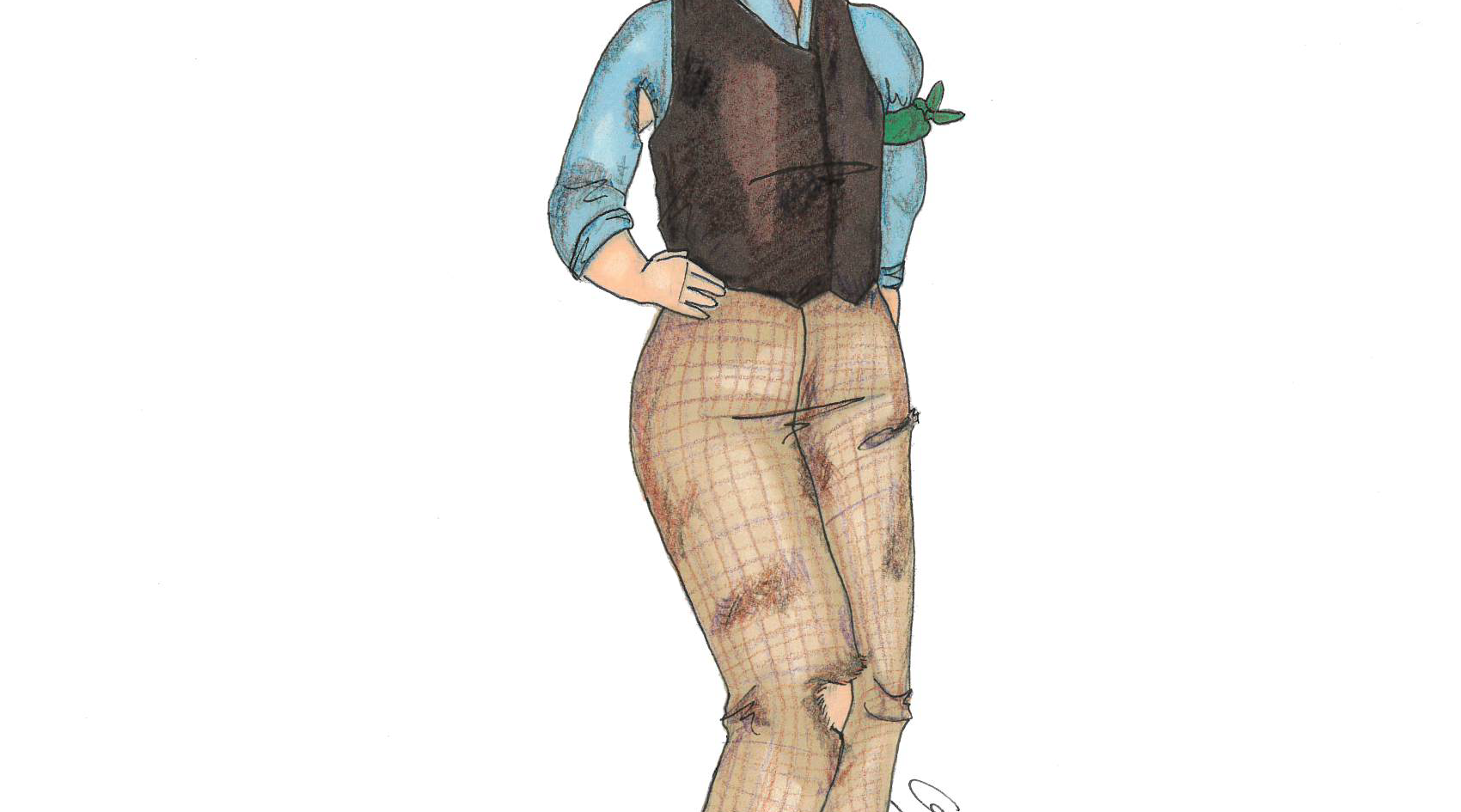 """Rendering of Jacques from """"As You Like It"""""""