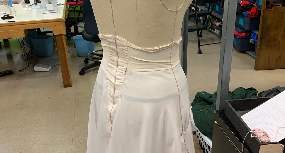 The petticoat was used to ensure the back draped properly