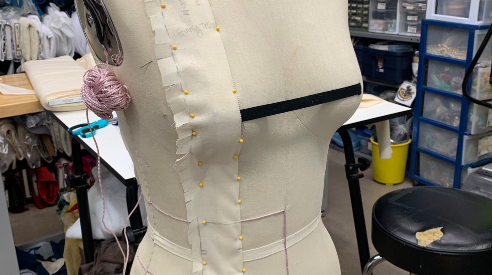 Draping the suspender