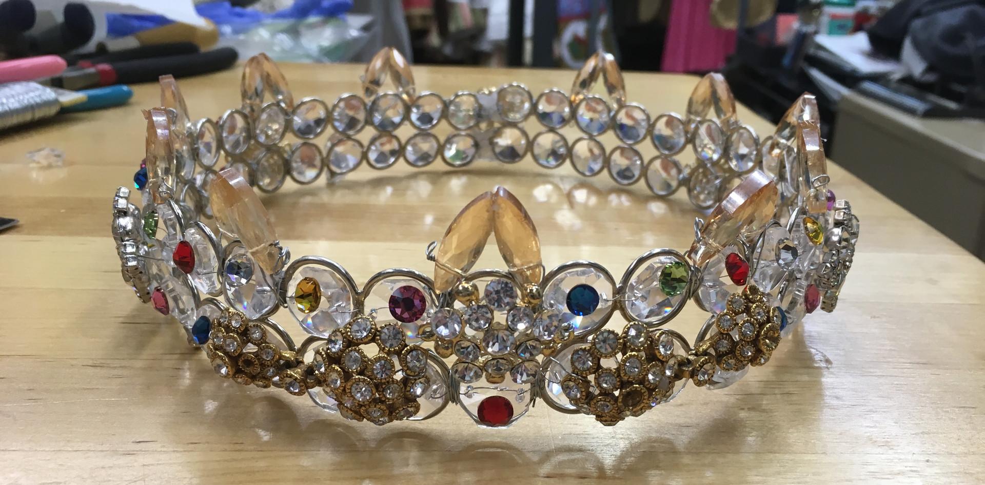 Applied heat-set jewels.