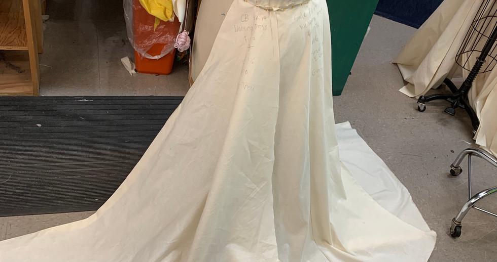 Draping the skirt