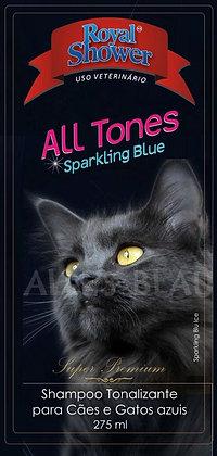 Shampoo tonalizante  ALL TONES - Sparkling Blue 275 ml - Brilho escuro