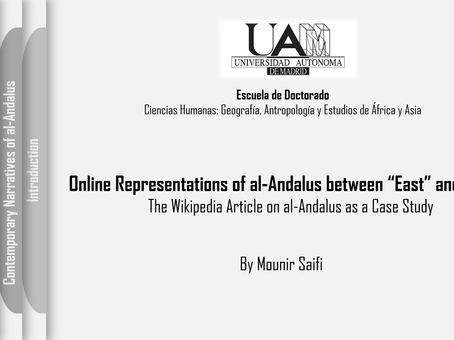 Doing Computational Analysis of the Wikipedia Article on al-Andalus, a Presentation by Mounir Saifi