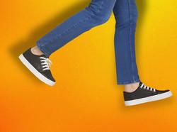 zapatillas recorte amarillo