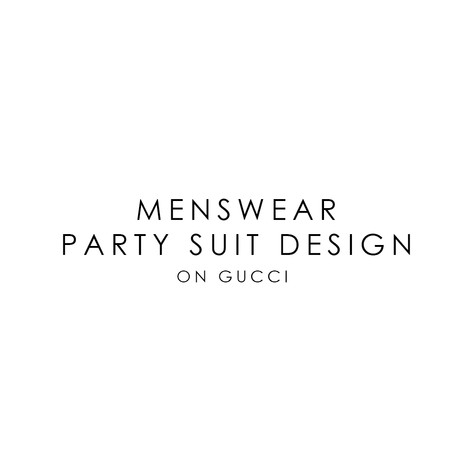 GUCCI MENS SUIT DESIGN
