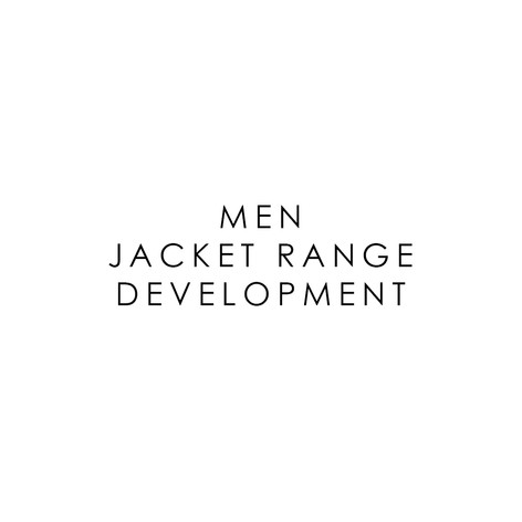 MENSWEAR JACKET RANGE DESIGN