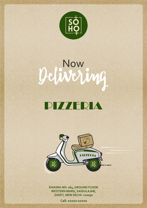 Flyer design for Pizza Delivery