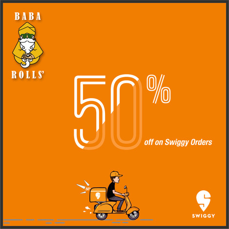 Creative Design for 50% Offer on Swiggy