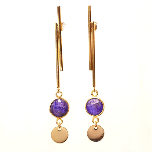 Boucles Isadora sillimanite bleue