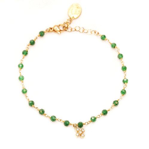 Bracelet Biancobello agate verte