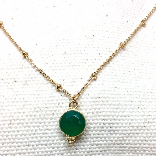 Collier Oracle agate verte