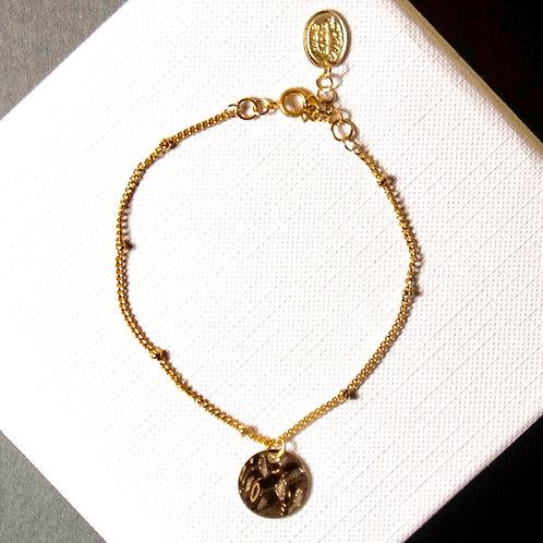 Bracelet sequin martelé