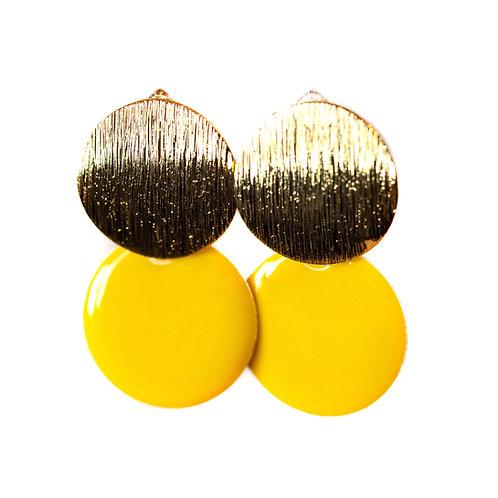 Boucles Macaron jaune citron