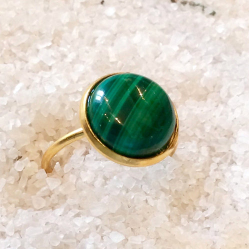 Bague Christina malachite