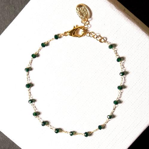 Bracelet perles facettes