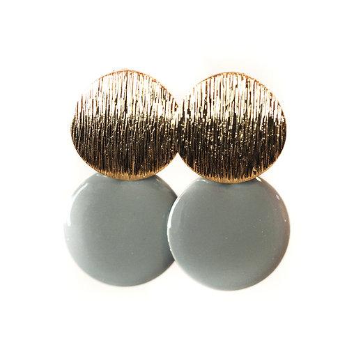 Boucles Macaron gris perle