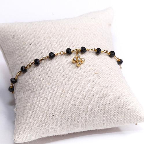 Bracelet Biancobello spinelle noir